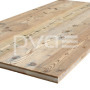 Altholz-Rohling Fichte/Tanne mit originaler Oberfläche von Fussbodenbretter