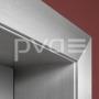 ai-Umfassungs-Alu-Zarge für Ganzglastür - Edelstahl Finish
